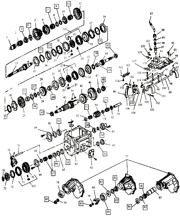 2000 Dodge Transmission Parts Diagram